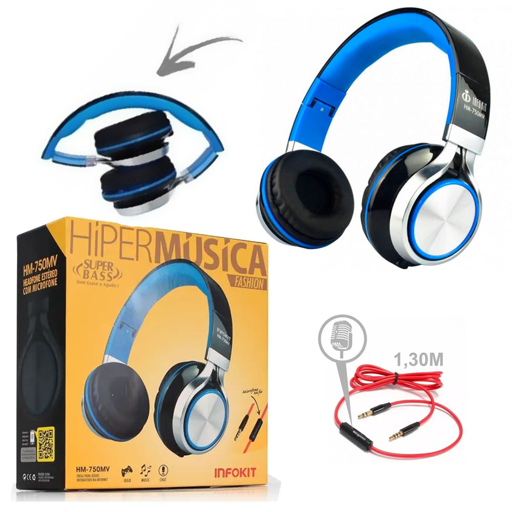Headphone com Microfone para Computador e Smartphone - HM-750MV