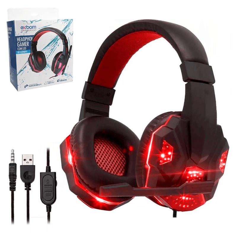Headset Gamer com LED - Exbom - HF-G390P4