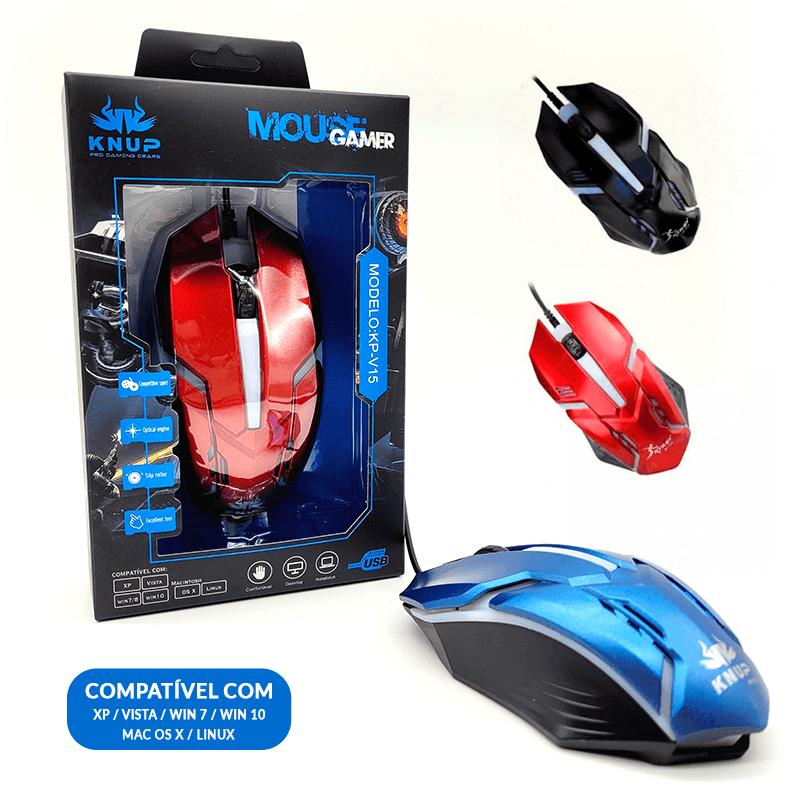 Mouse Gamer - KP-V15 - Cores Sortidas