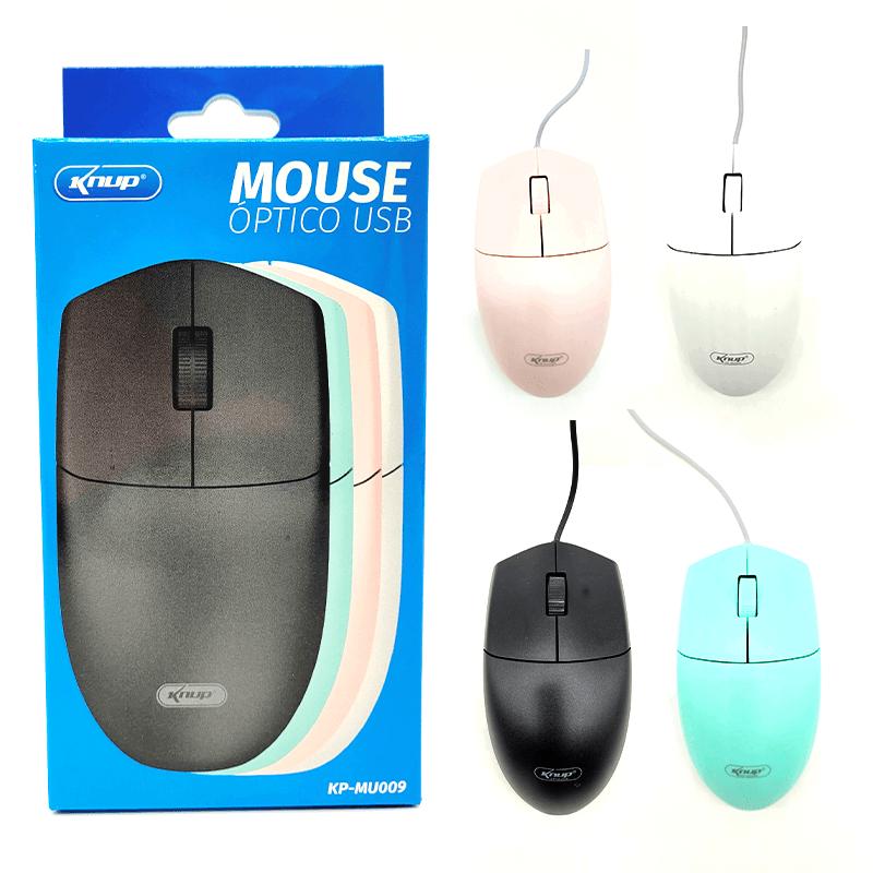 Mouse Óptico USB - KP-MU009 - Cores Sortidas