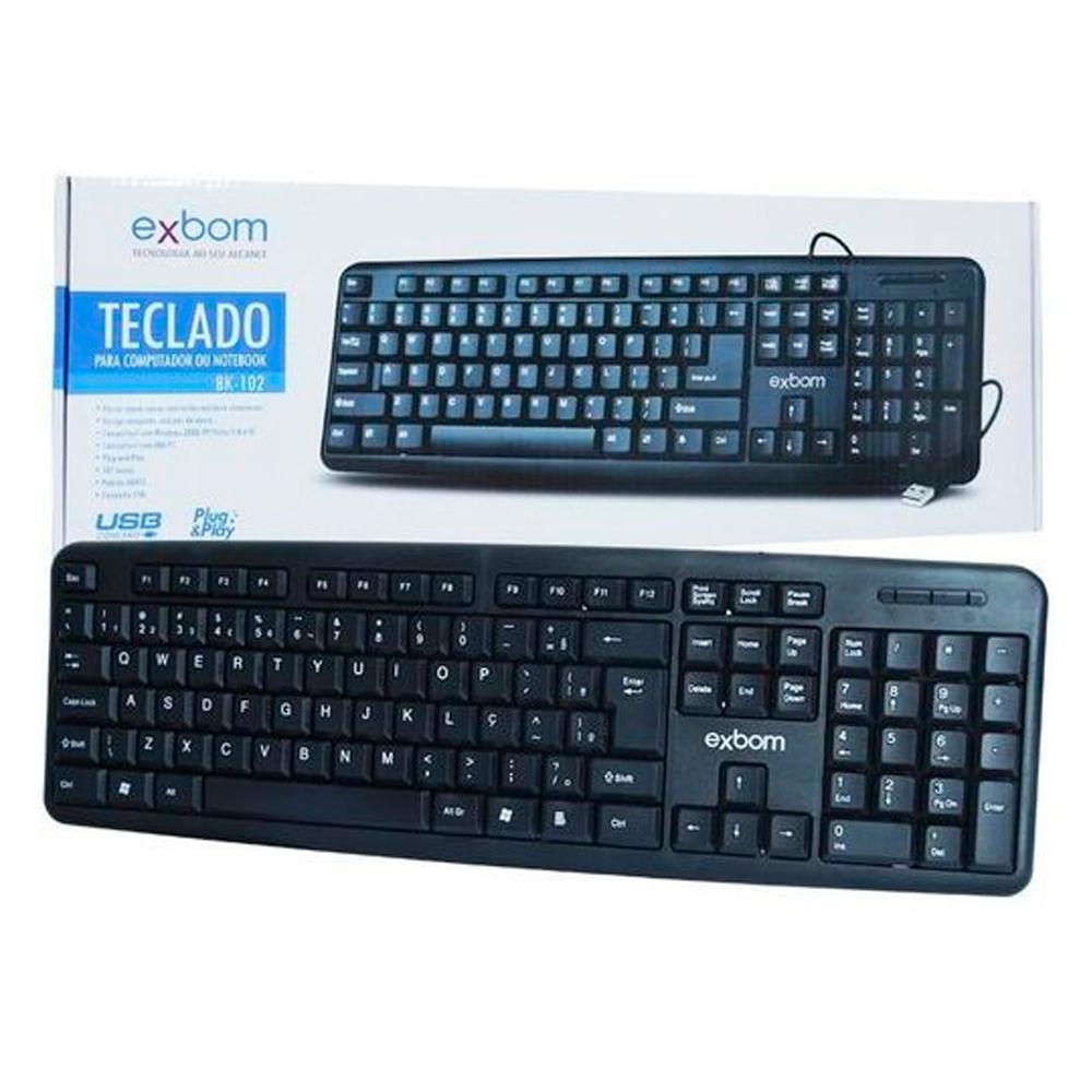 Teclado USB Exbom - BK-102