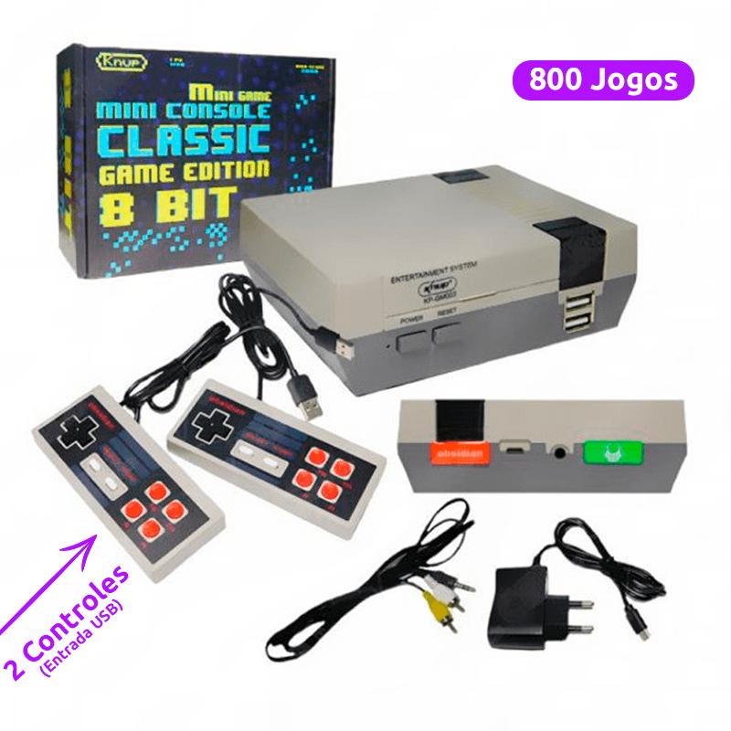 Vídeo Game 8 Bits - 800 Jogos Clássicos + 2 Controles - KP-GM003