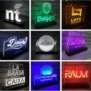 Display de Acrílico - Luminária de led com o Logo
