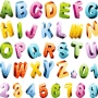 Adesivo De Parede - Alfabeto E Números 216