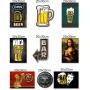 Kit Com 9 Placas Decorativas Em Mdf - Bebidas Retrô Bar