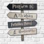 Placa Decorativa Harry Potter - Placas Indicativas Em Mdf