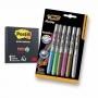 Post-it Preto 3m - 60 Folhas 7,6x7,6cm + 6 Canetas Bic