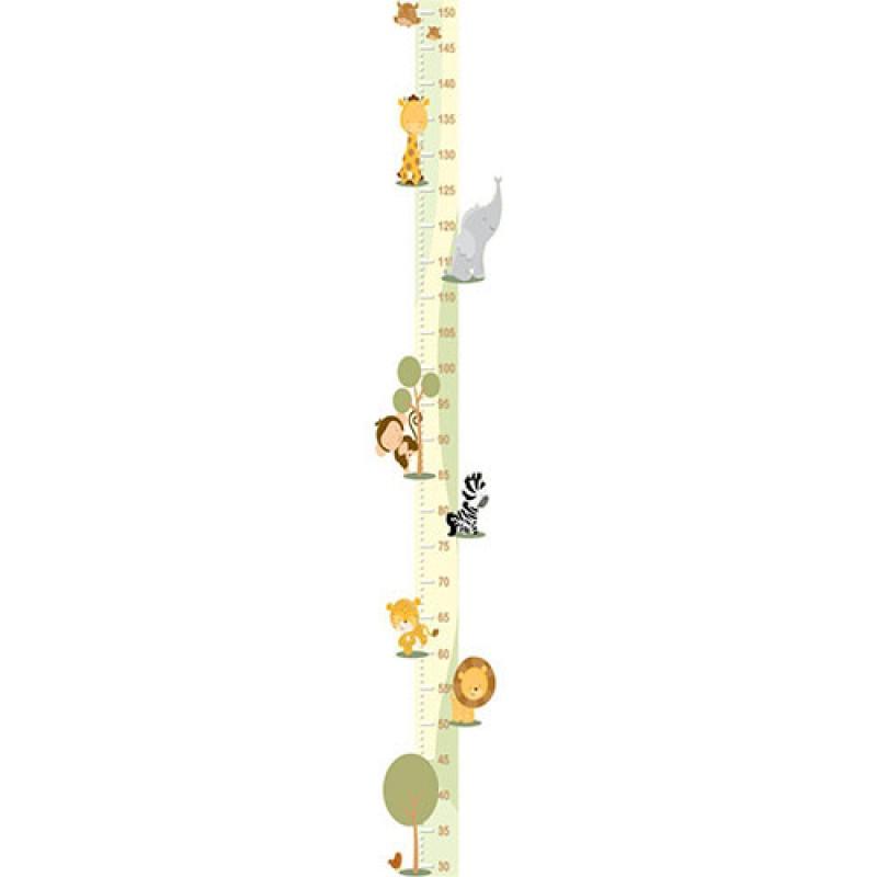 Adesivo Régua do Crescimento - Bichos 411