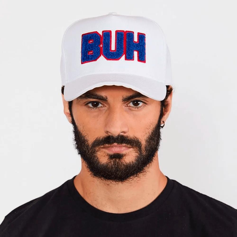 Boné Buh Chenille Branco