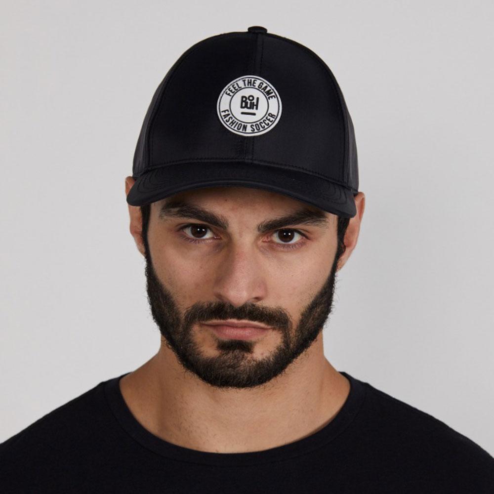 Boné Buh Dad Hat Logo Emborrachado Preto