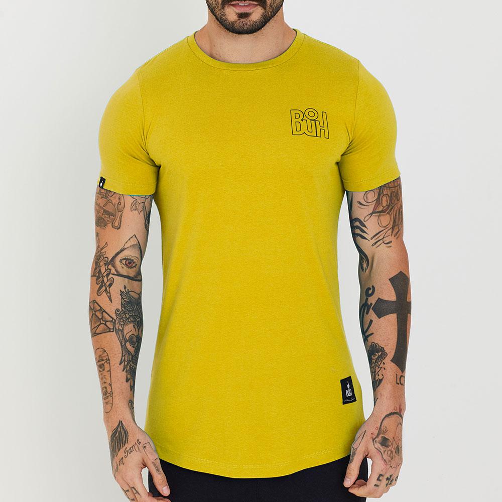 Camiseta Buh Basic Rib Amarela