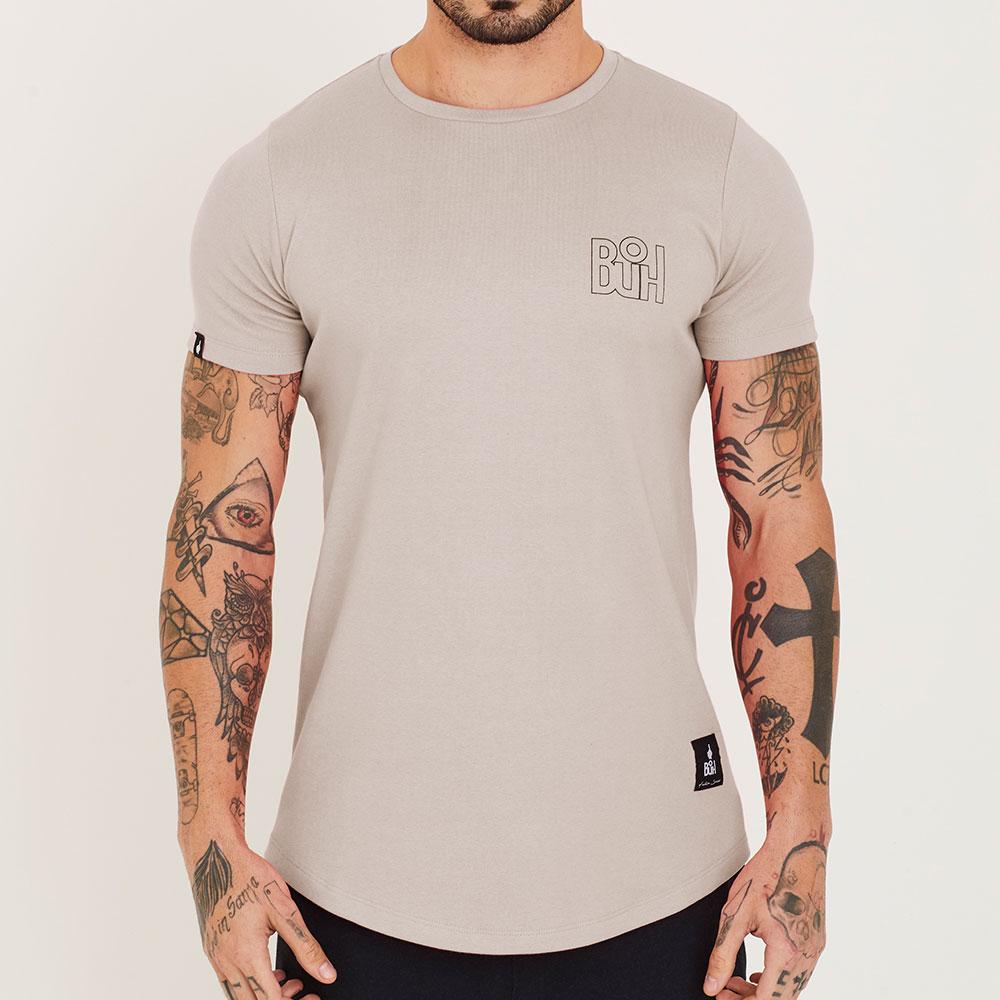 Camiseta Buh Basic Rib Bege