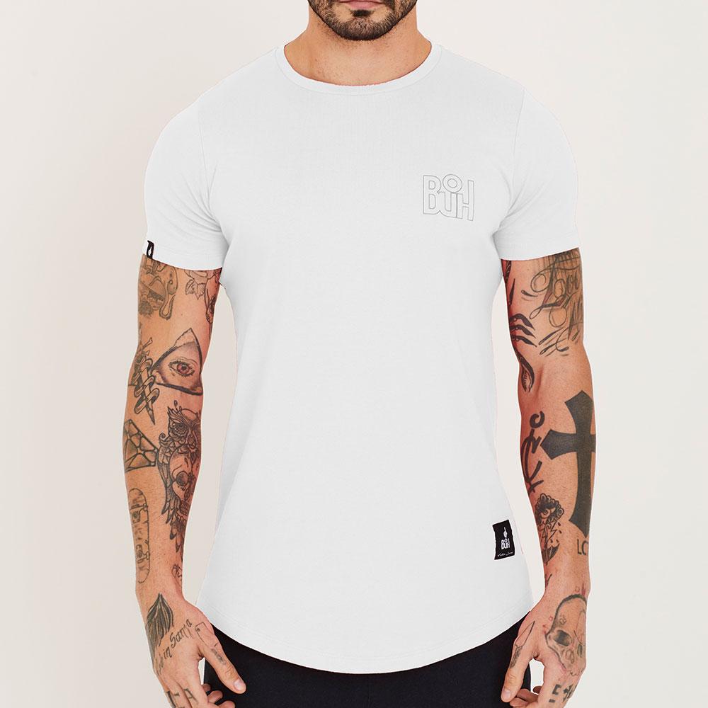 Camiseta Buh Basic Rib Branco