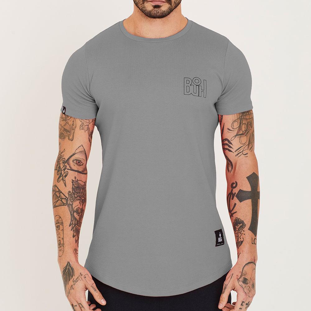 Camiseta Buh Basic Rib Cinza