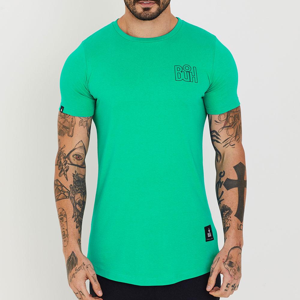 Camiseta Buh Basic Rib Esmeralda