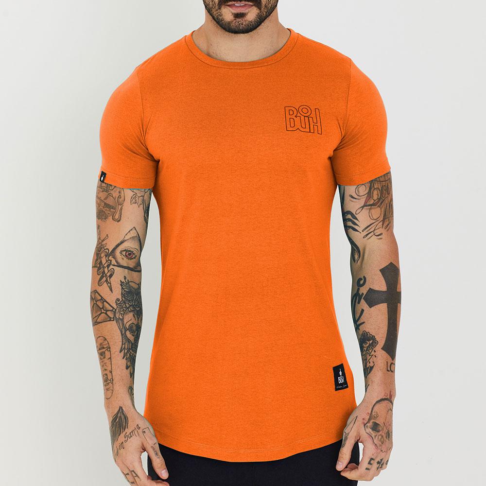 Camiseta Buh Basic Rib Laranja