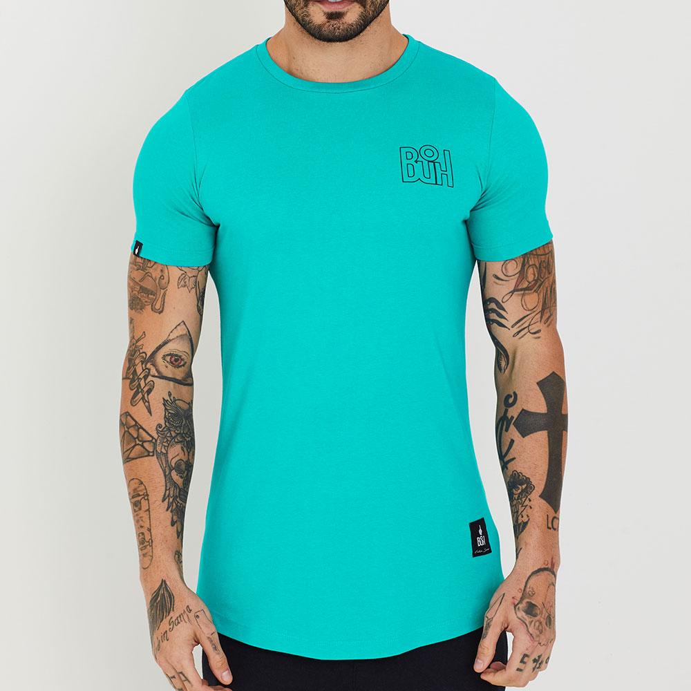 Camiseta Buh Basic Rib Verde Água
