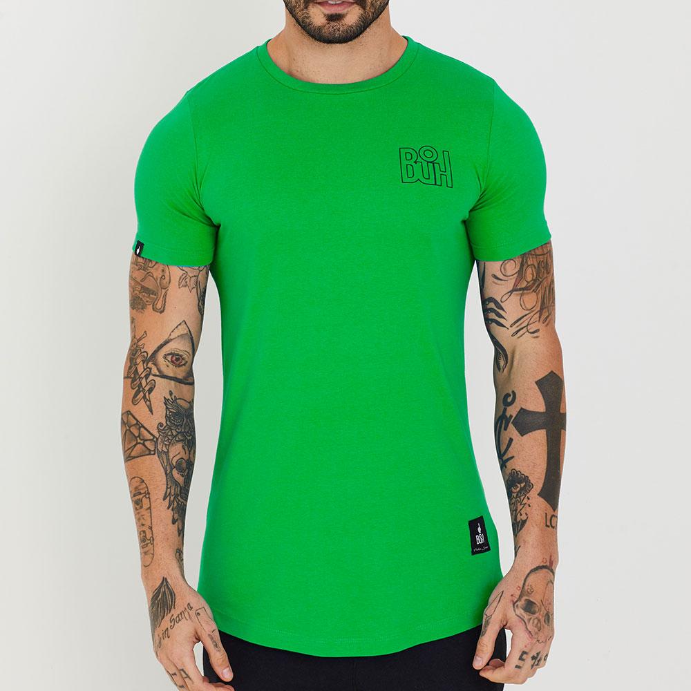 Camiseta Buh Basic Rib Verde Folha