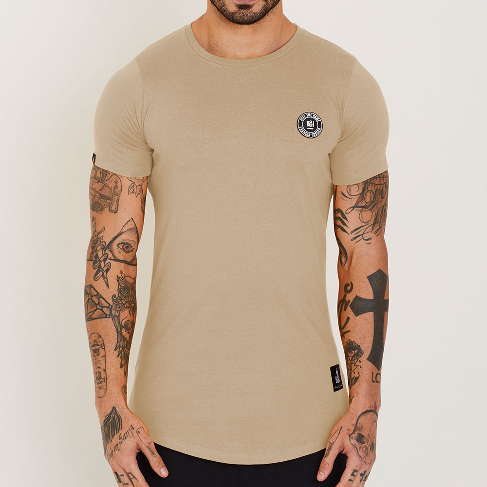 Camiseta Buh Basic Rubber Bege