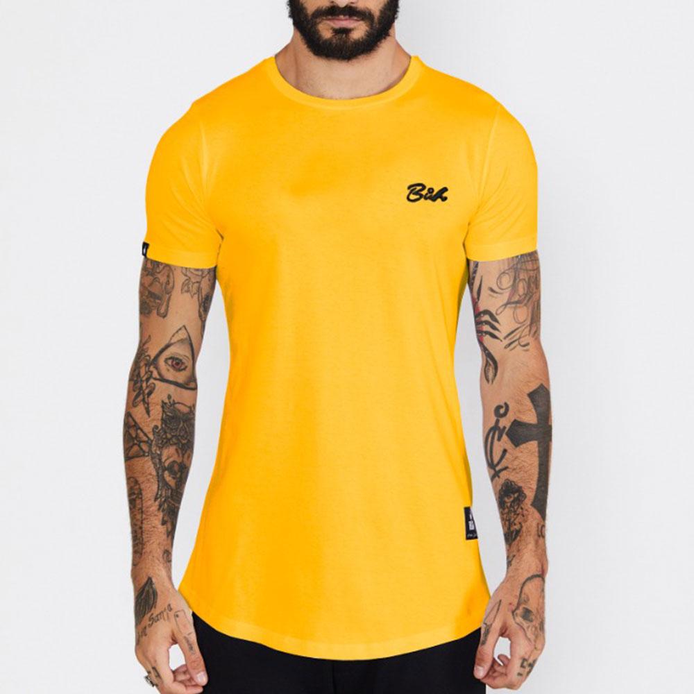Camiseta Buh Básica Amarela