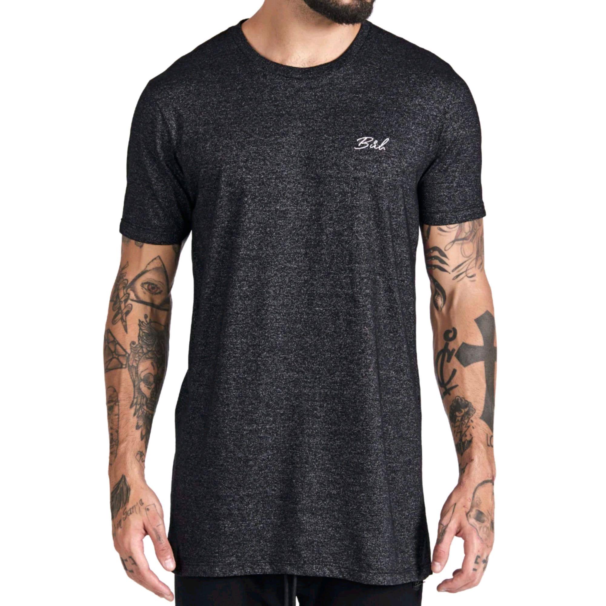 Camiseta Buh Básica Bordado Mescla