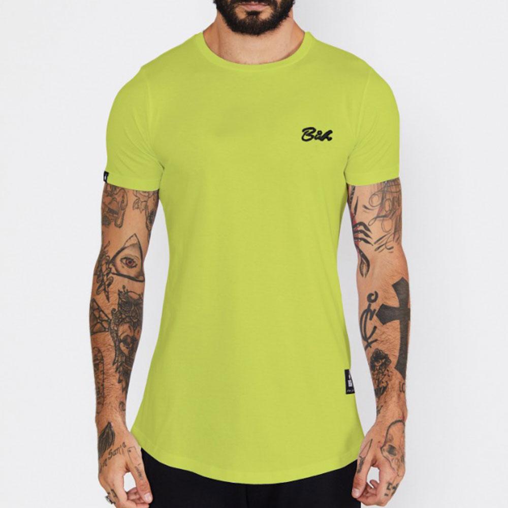 Camiseta Buh Básica Verde Limão