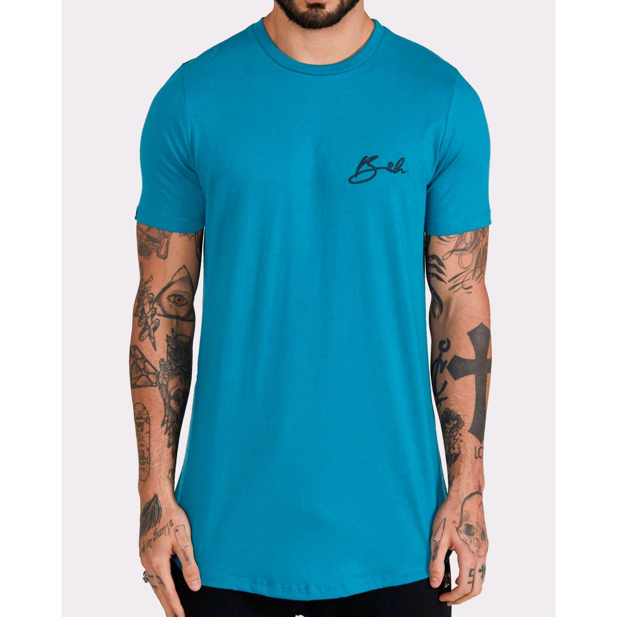 Camiseta Buh Bordado Blue