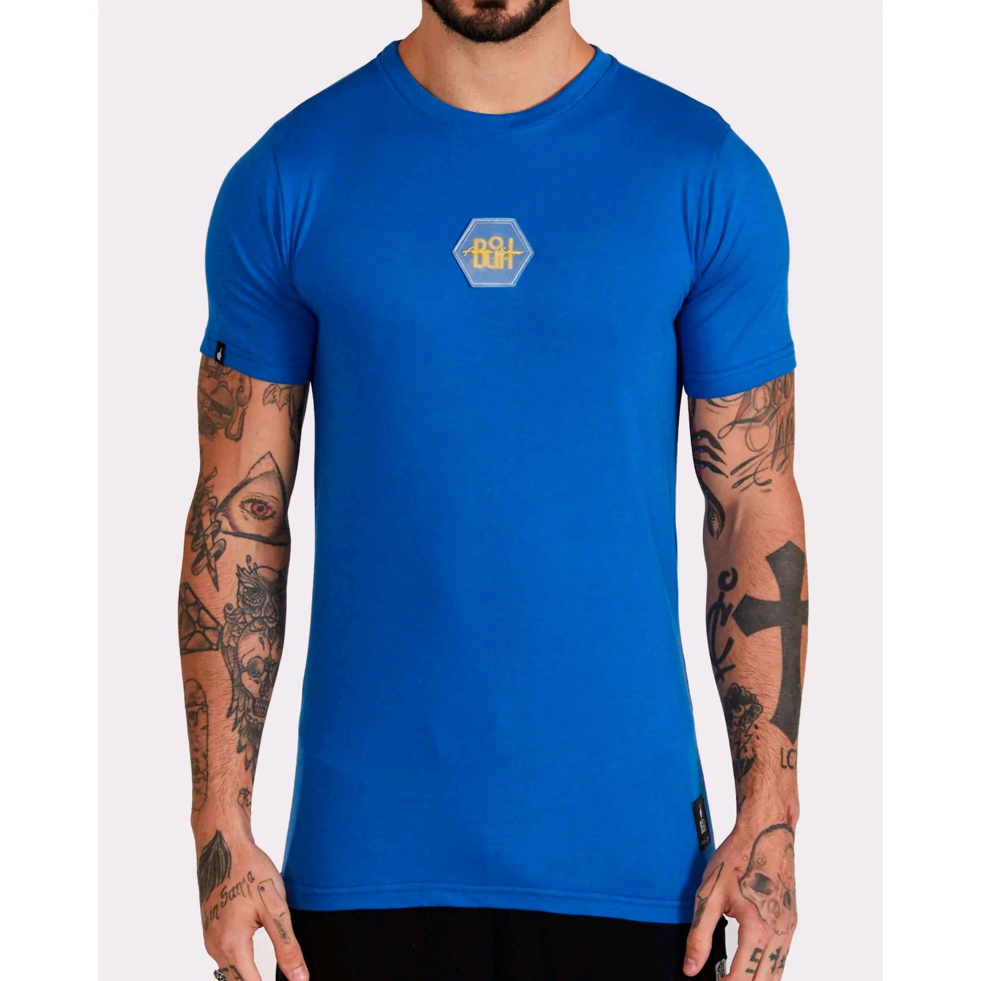 Camiseta Buh Bordado Rubber Blue