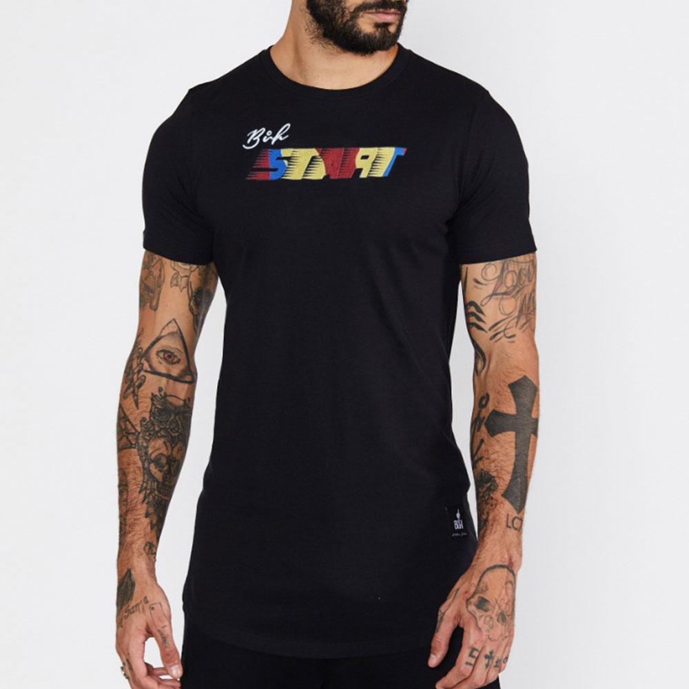 Camiseta Buh Bordado Start Preta