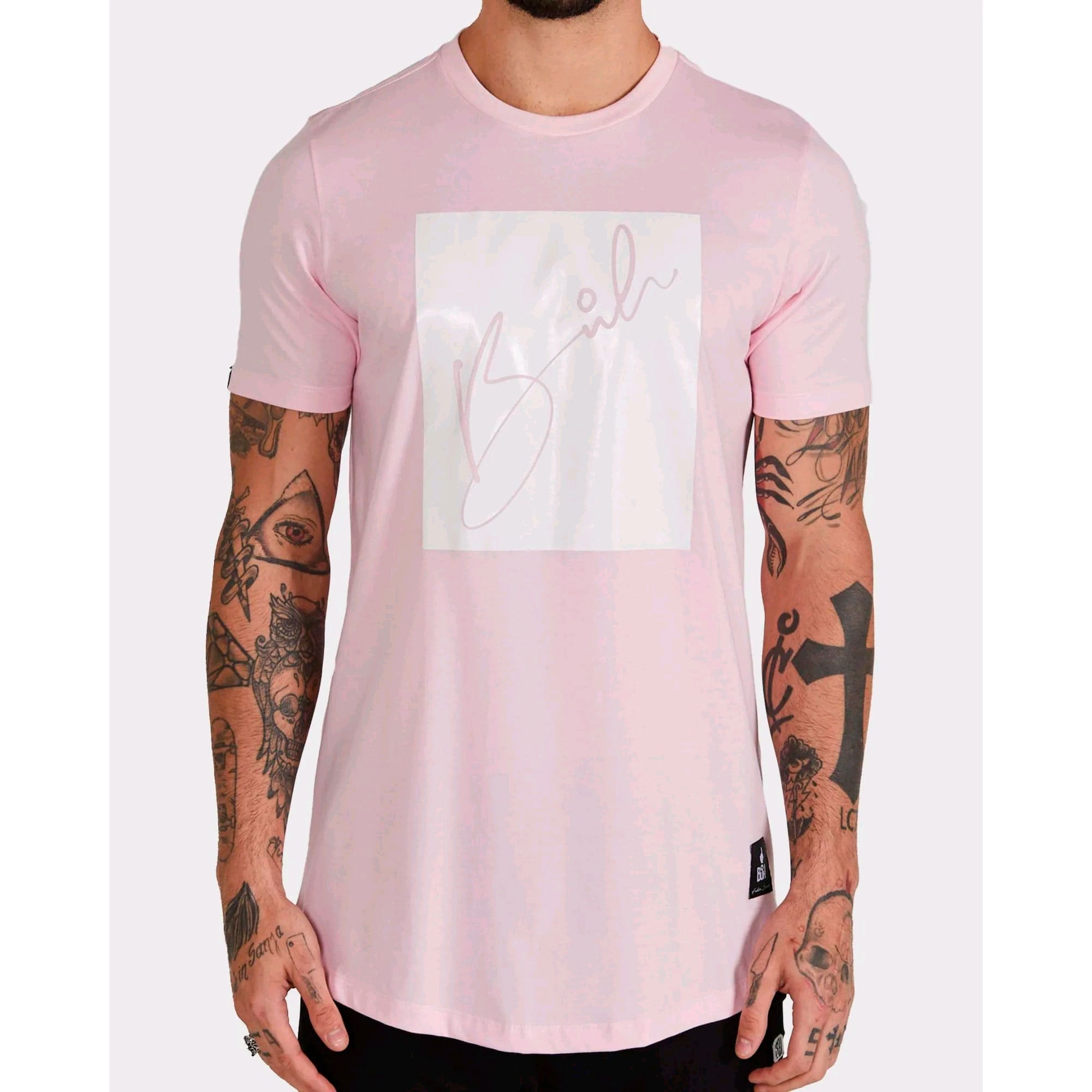 Camiseta Buh Candy Square Rose & White