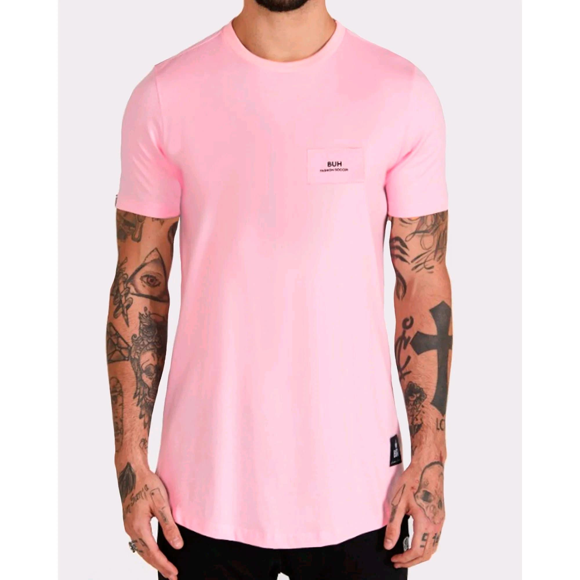 Camiseta Buh Costura Costas Rose