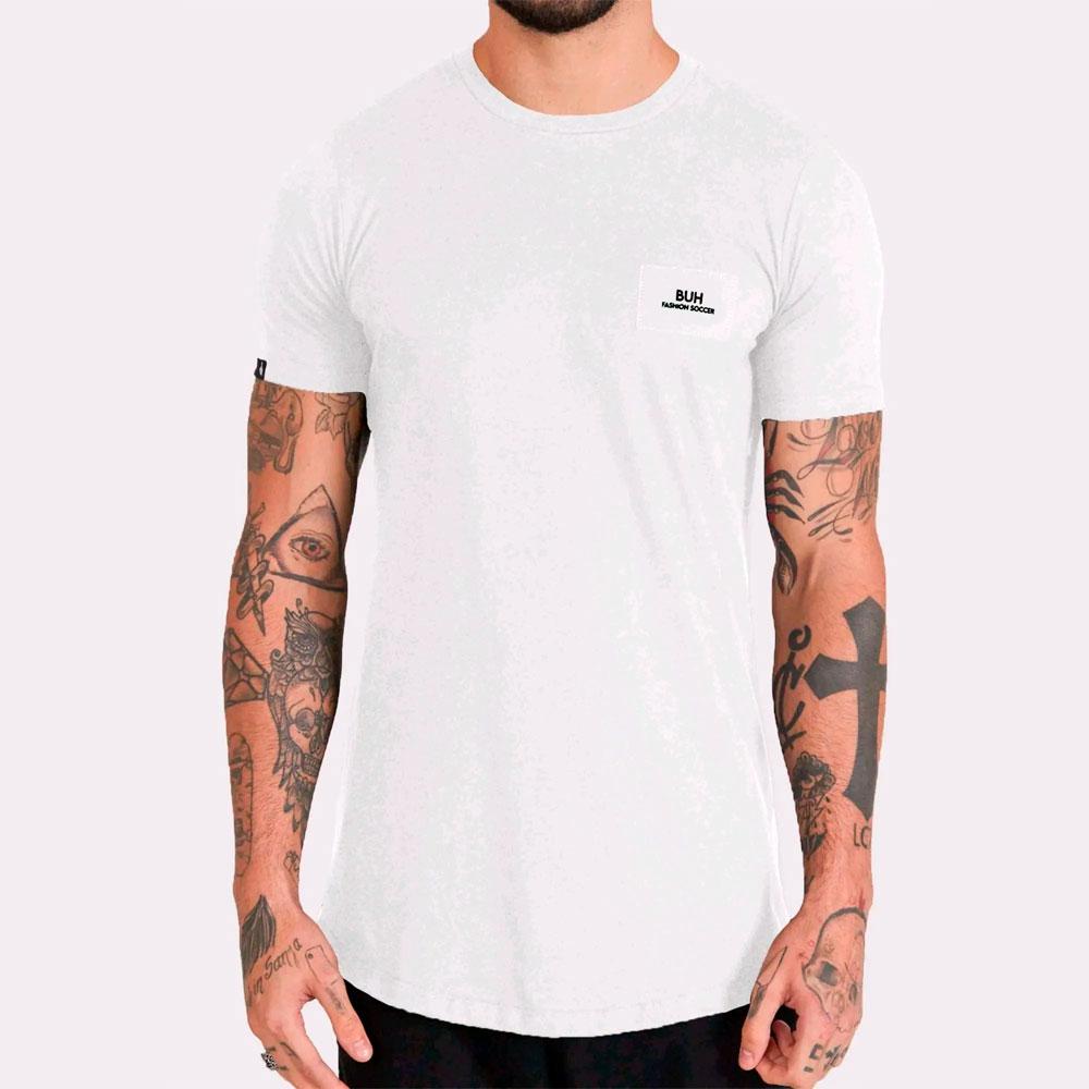 Camiseta Buh Costura Costas White