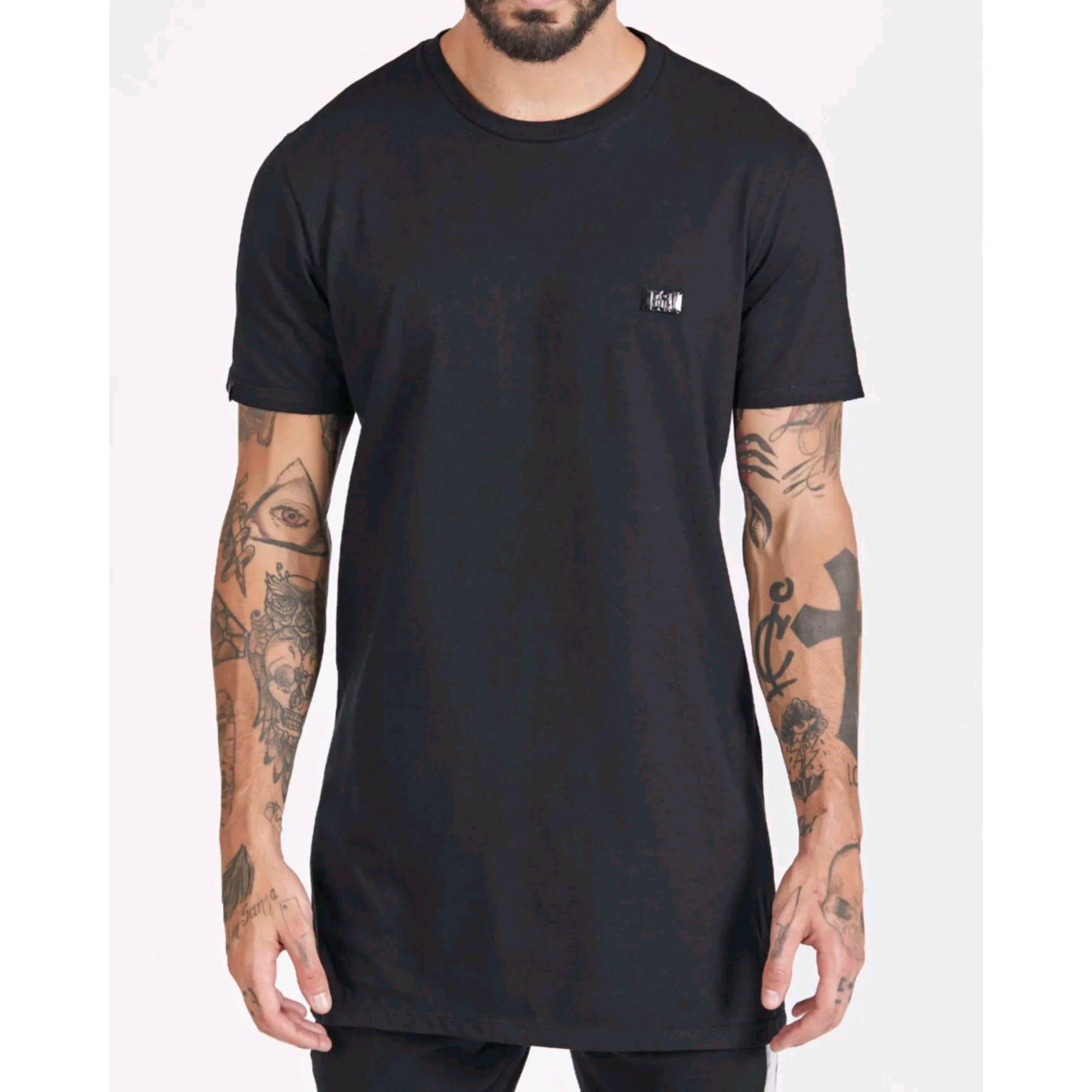 Camiseta Buh Cotton Plaquinha Black