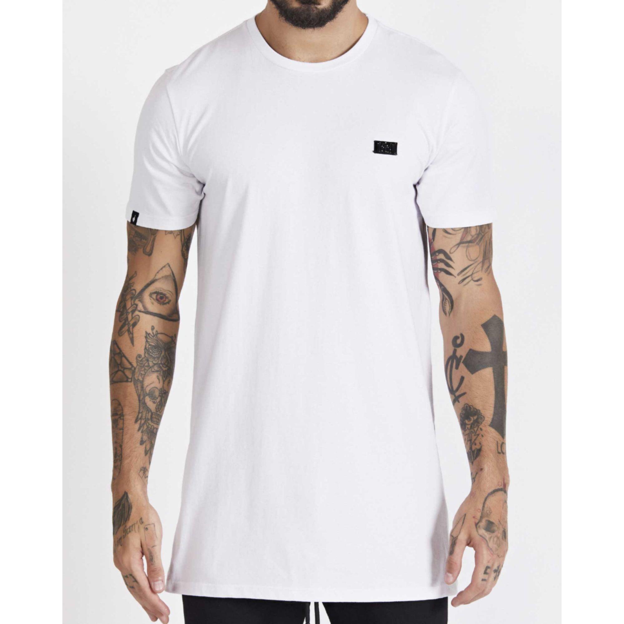 Camiseta Buh Cotton Plaquinha White