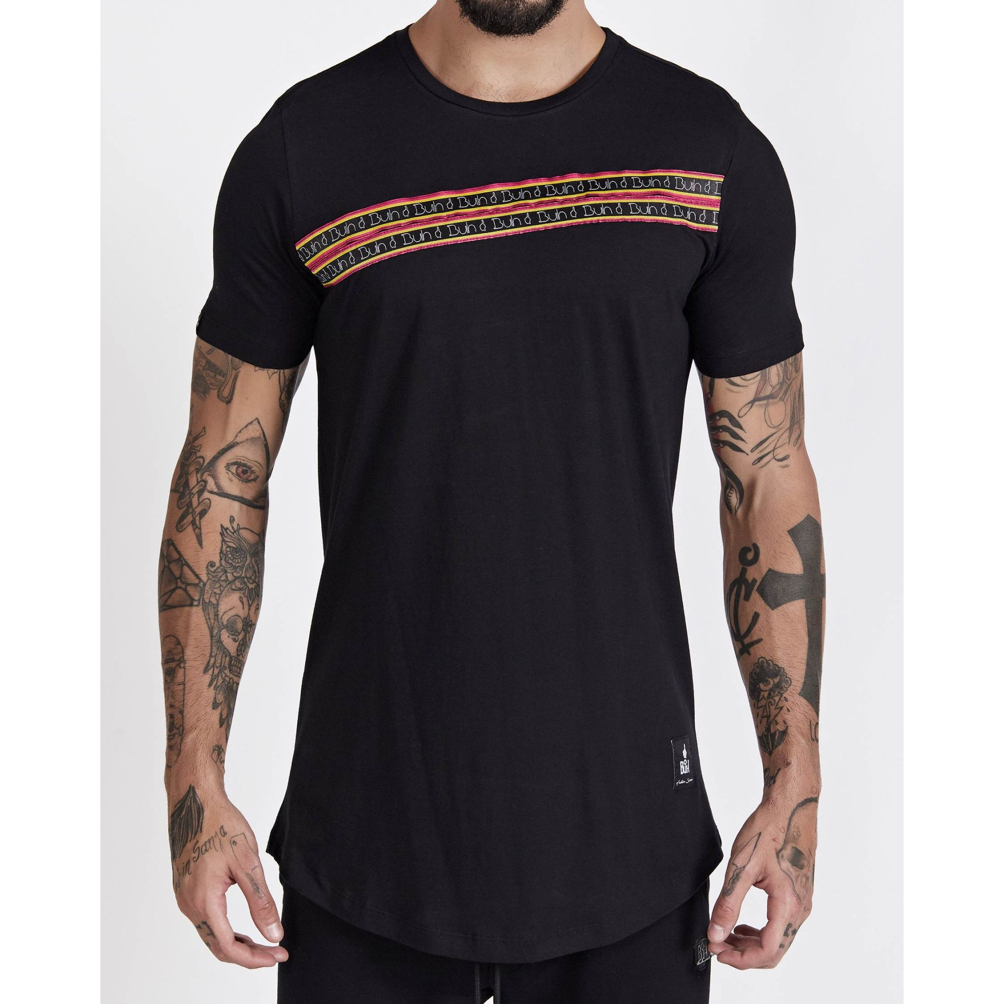 Camiseta Buh Faixas Black