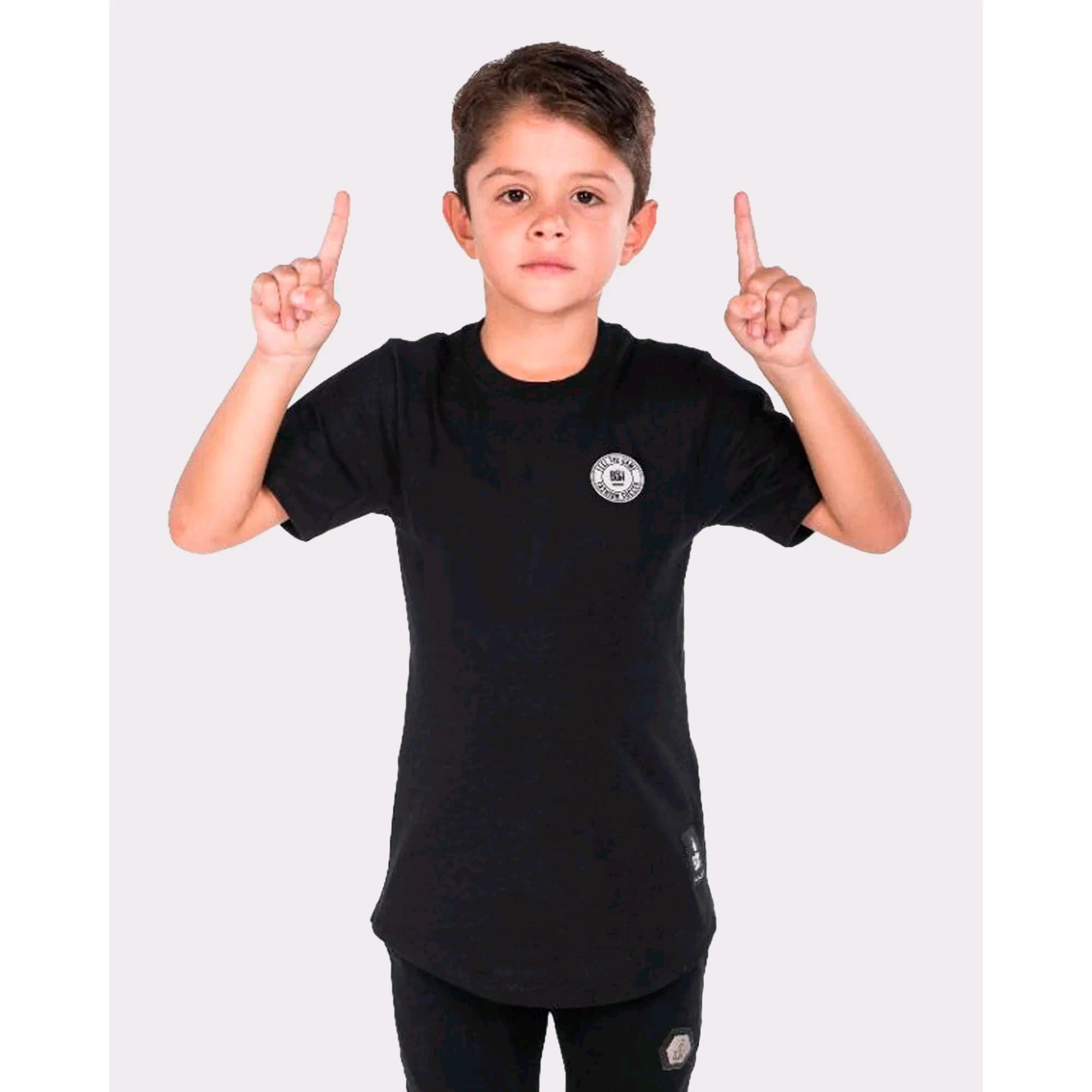 Camiseta Buh Kids Basic Rubber Black