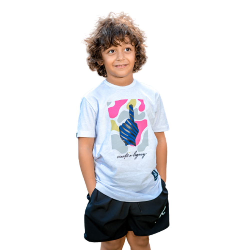 Camiseta Buh Kids Create a Legacy Branca