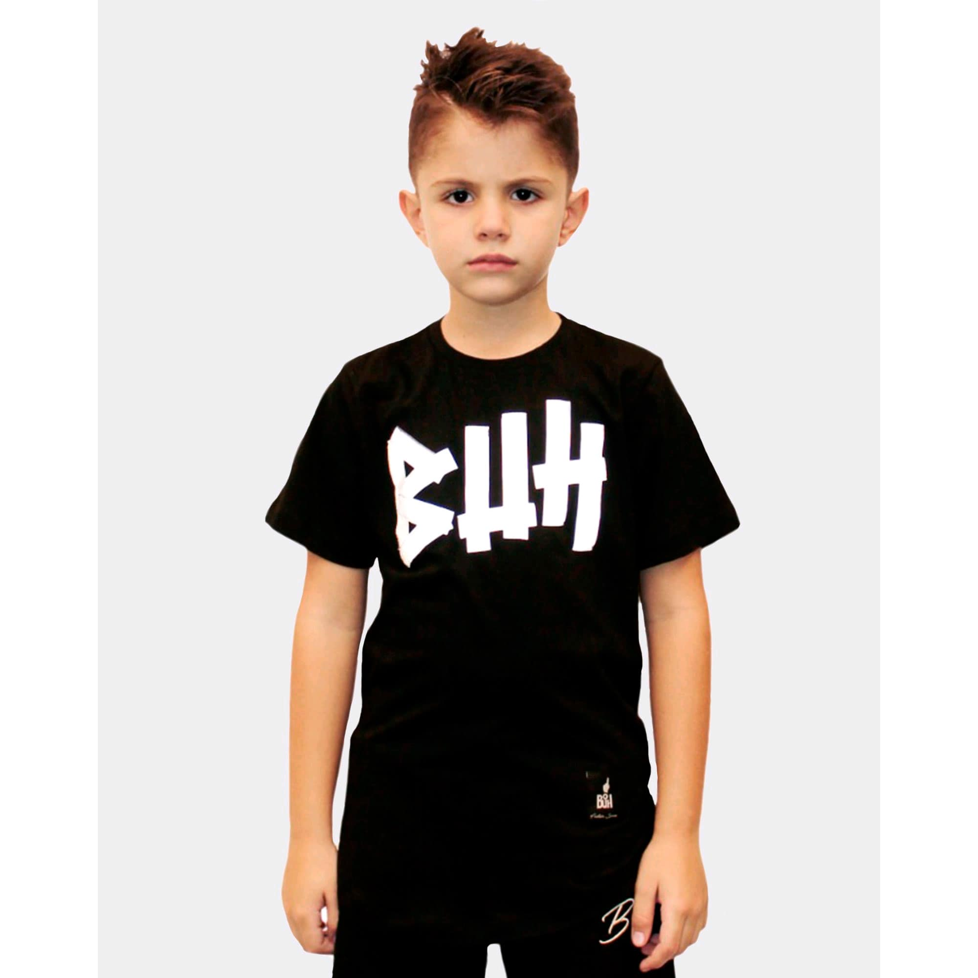 Camiseta Buh Kids Fita Refletiva Black