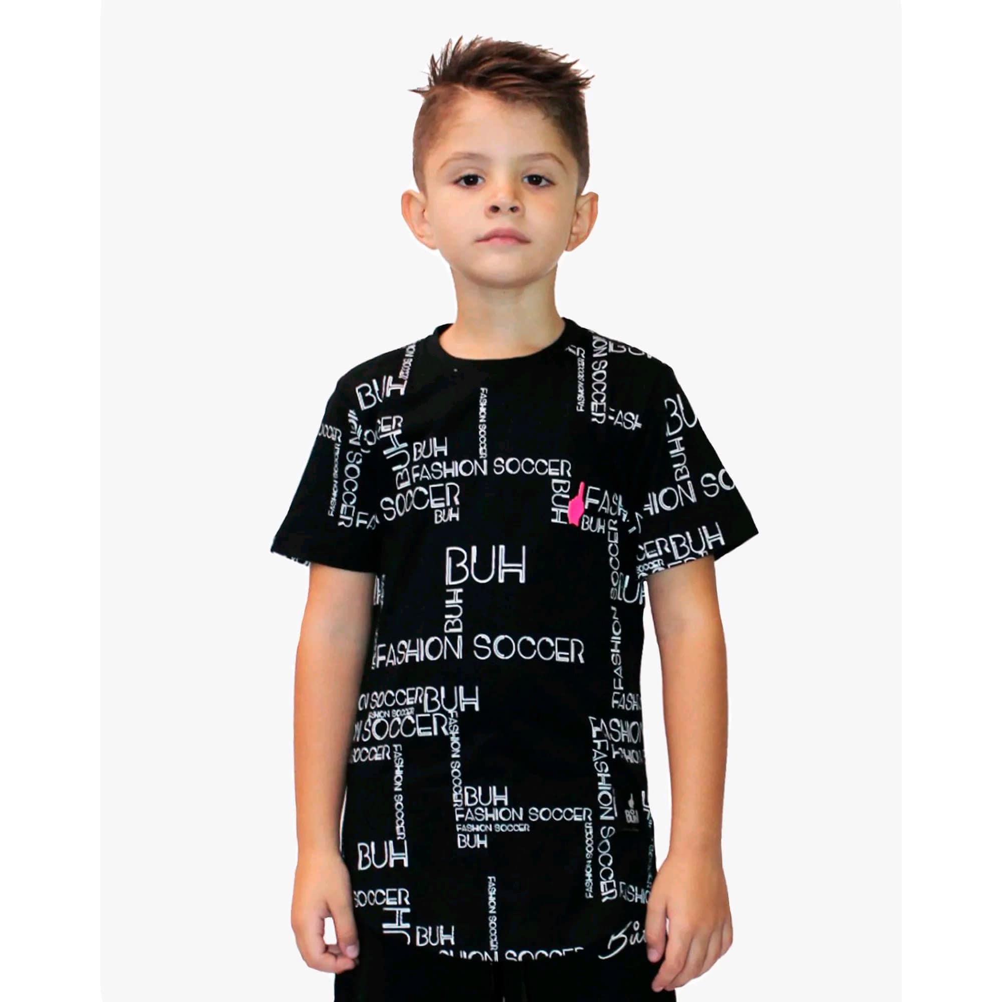 Camiseta Buh Kids Full Maps Black