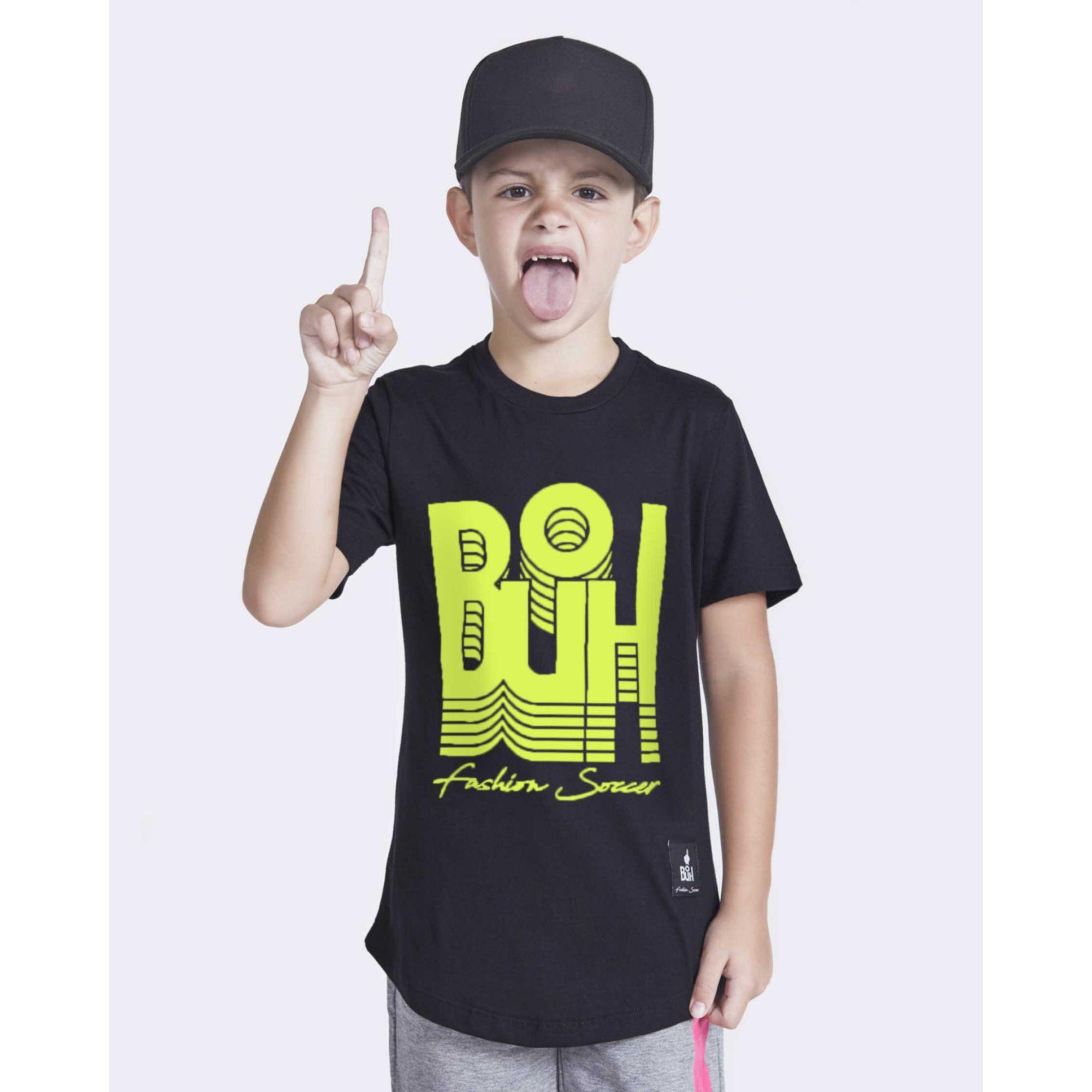 Camiseta Buh Kids Inverse Black & Neon