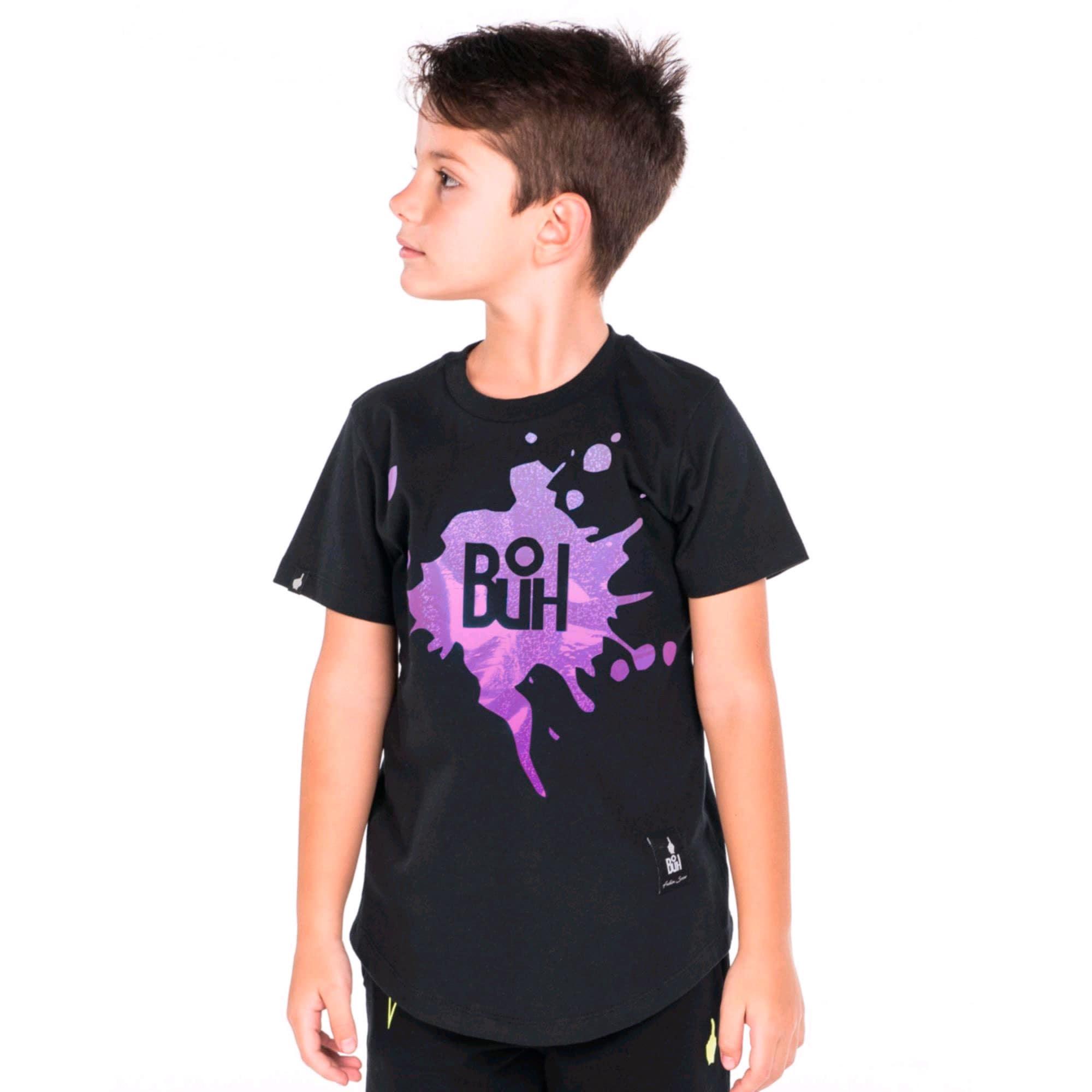 Camiseta Buh Kids Laminada Black