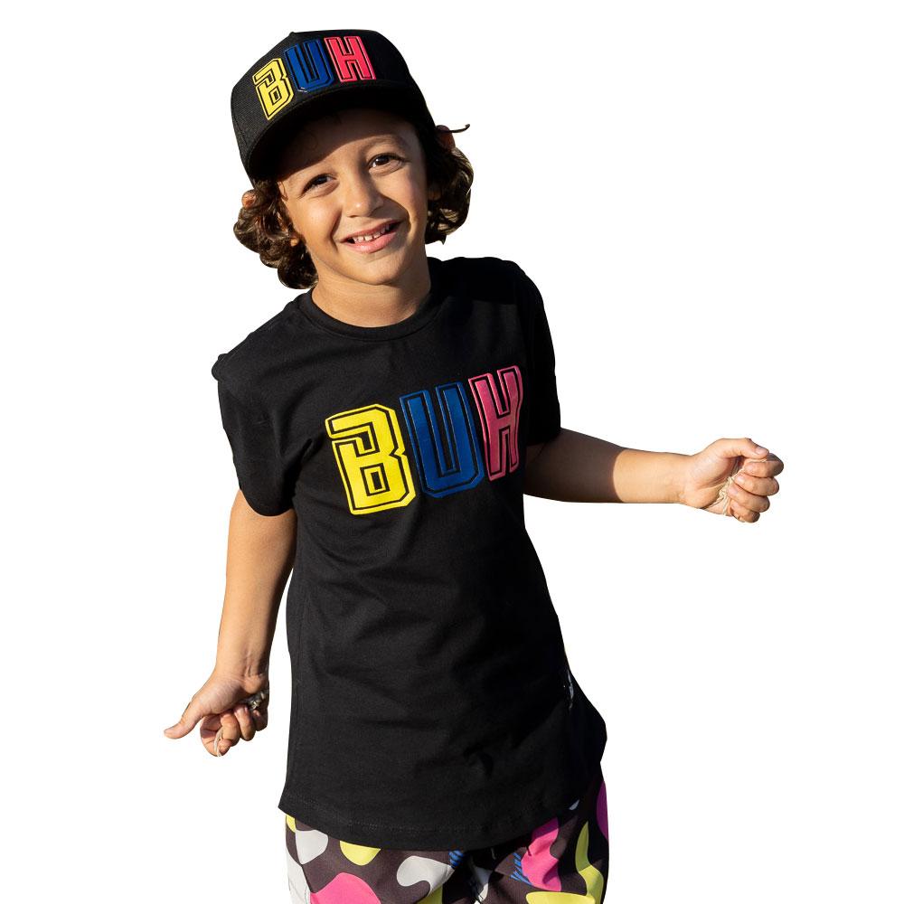 Camiseta Buh Kids Preta Colors A