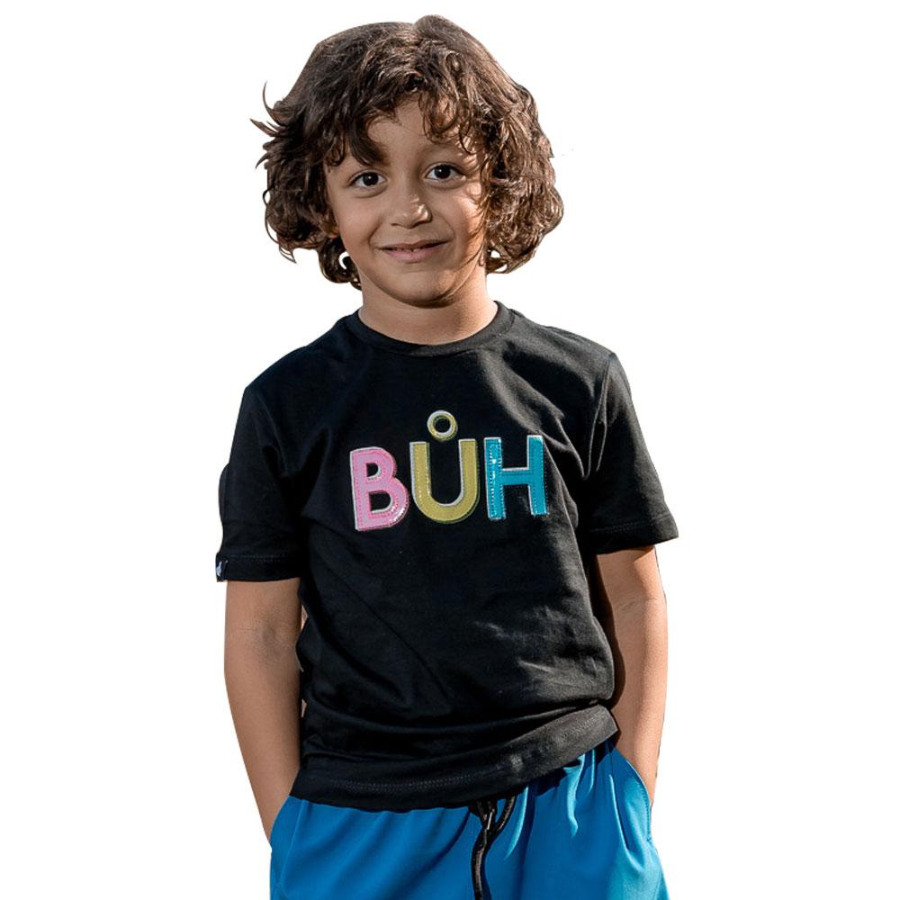 Camiseta Buh Kids Preta Plastic