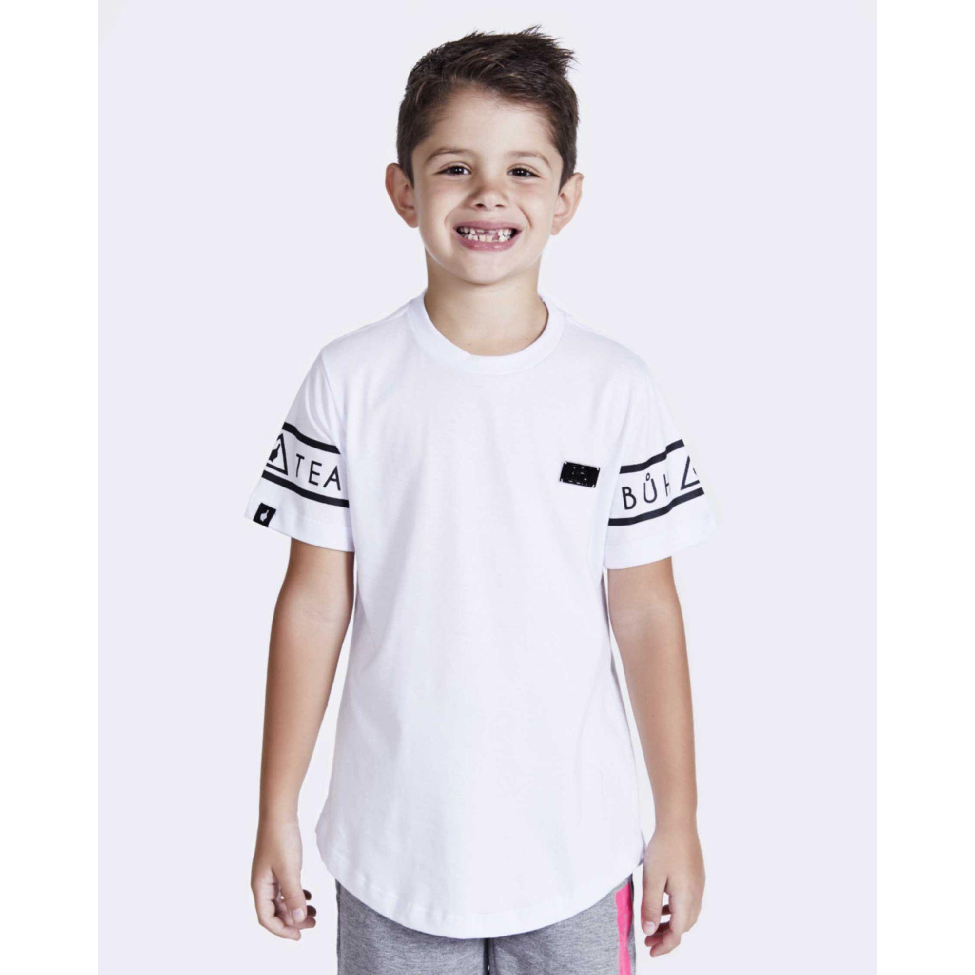Camiseta Buh Kids Sleeve White