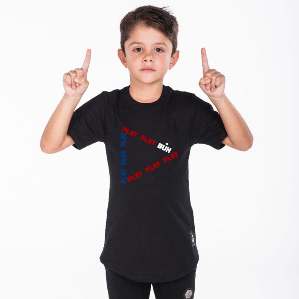 Camiseta Buh Play Colors Kids Preta