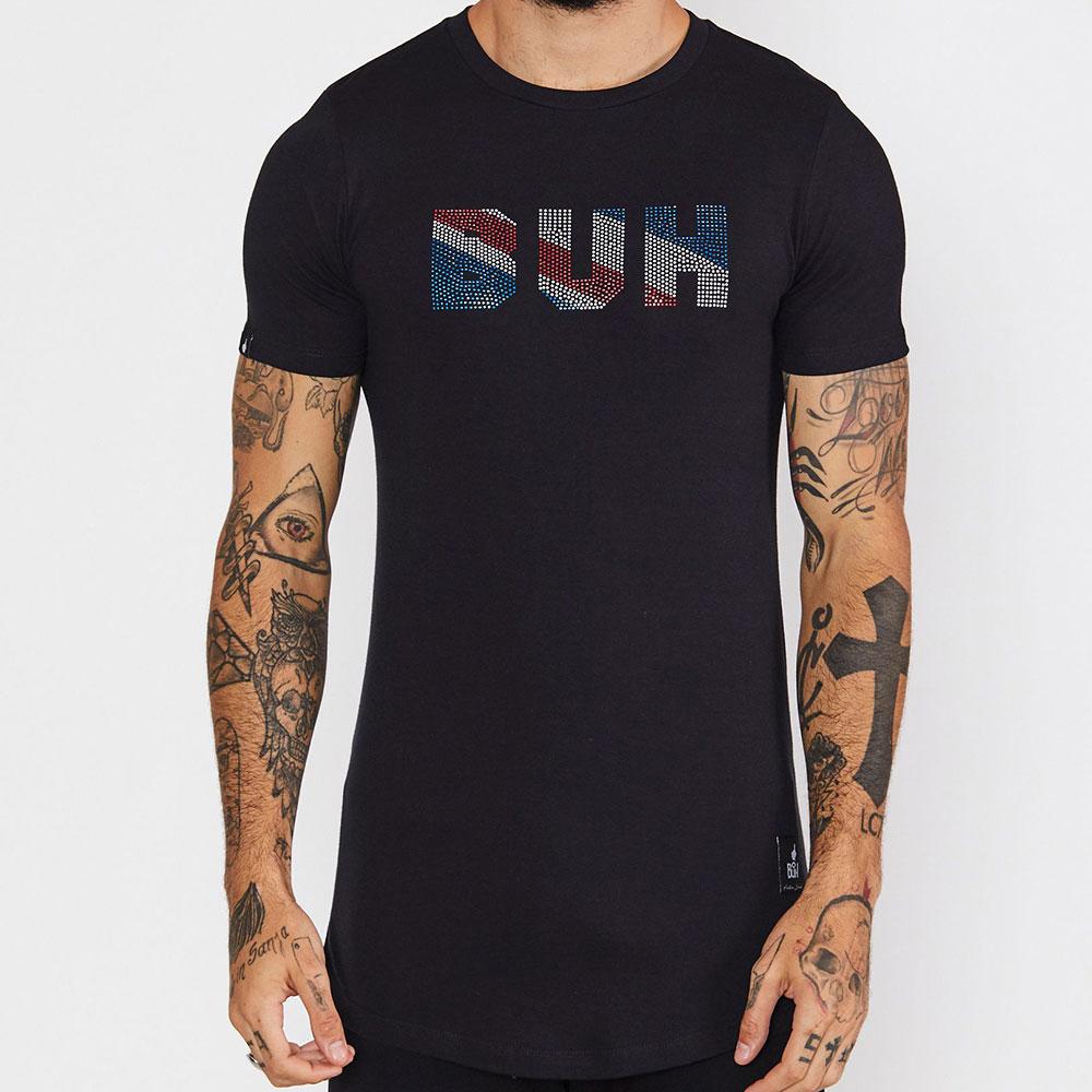 T-Shirt Flag Shine Preta