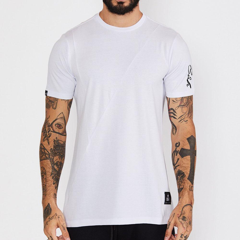 Camiseta Buh Recortes Color Branca