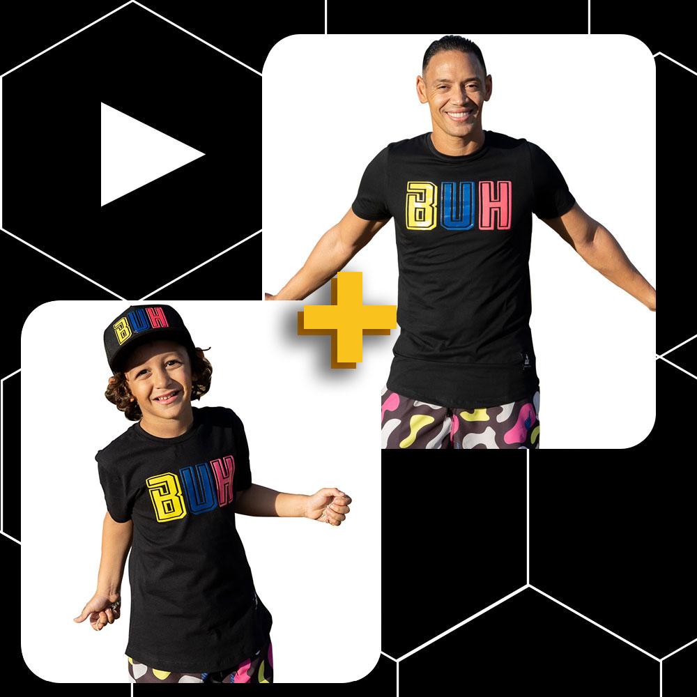 Conjunto Buh Pai e Filho Colors A
