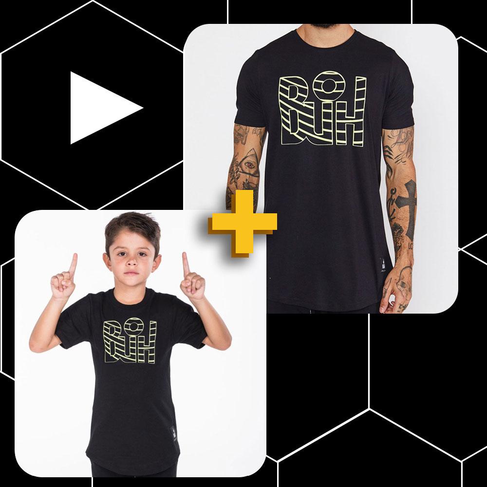 Conjunto Buh Pai e Filho Curves Preto