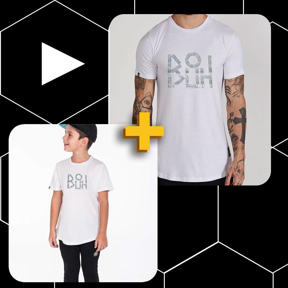 Conjunto Buh Pai e Filho Lines Branco